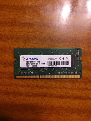 Pamięć 1GB DDR3 1600 Adata so-dimm
