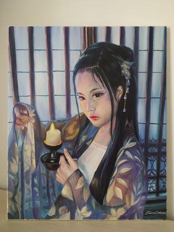Obraz olejny koreański, sztuka koreańska.