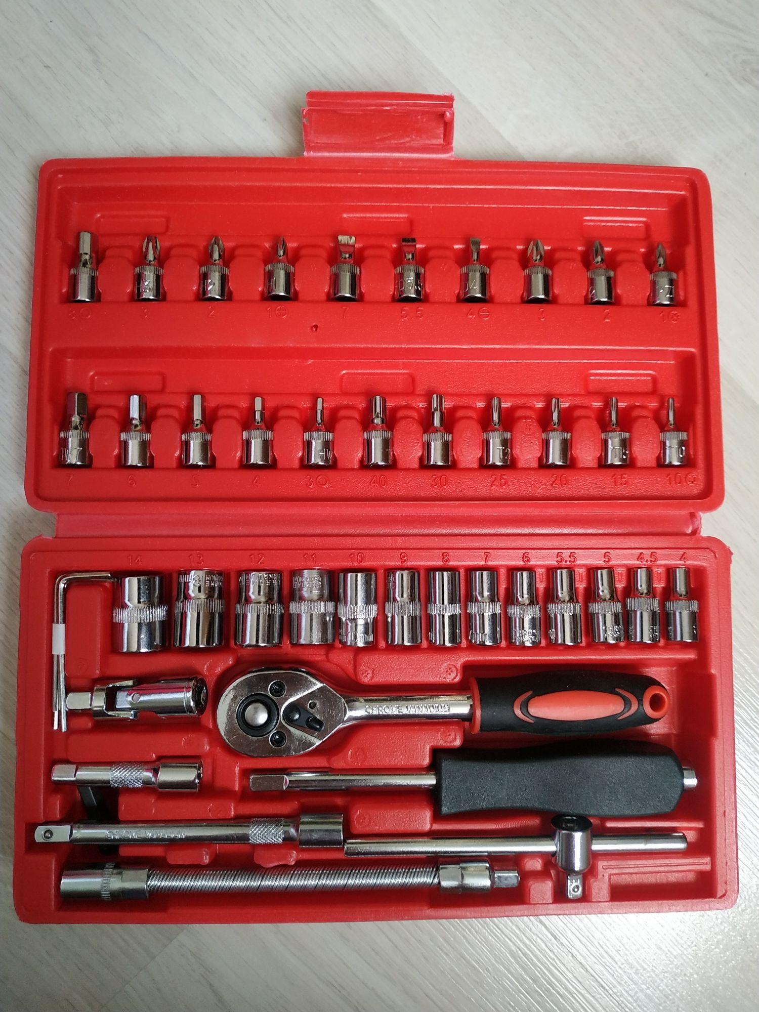 Набор инструментов для дома и авто 46 предметов