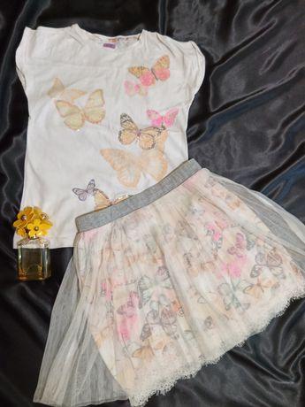 Комплект летний юбка и футболка на девочку 12-14 лет