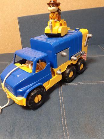 Машинка мусоровоз wader