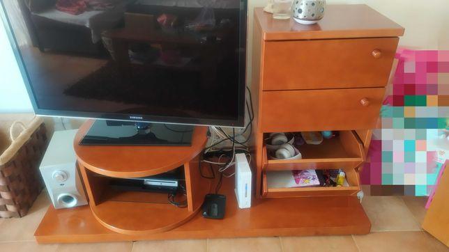 Móvel TV, Módulo com gavetas e estante.