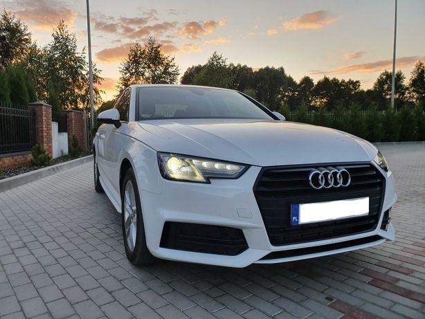 Samochód do ślubu,  piękne Audi A4 B9 w białym kolorze