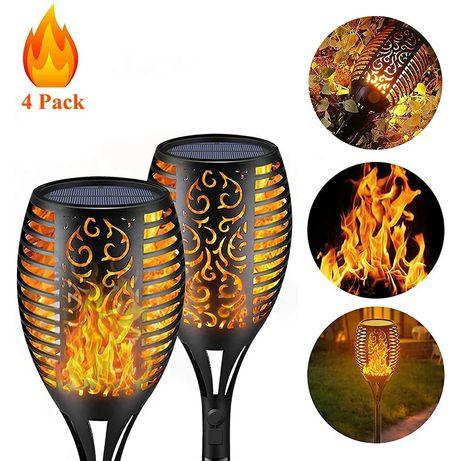 СветильниксадовыйRIGHT HAUSEN SOLAR Torch orange fire LED