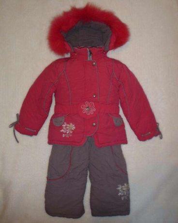 Зимний комбинезон KIKQ для девочки, на 3-4 годика. Хорошее состояние!