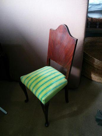 Cadeira Queen Anne em Mogno