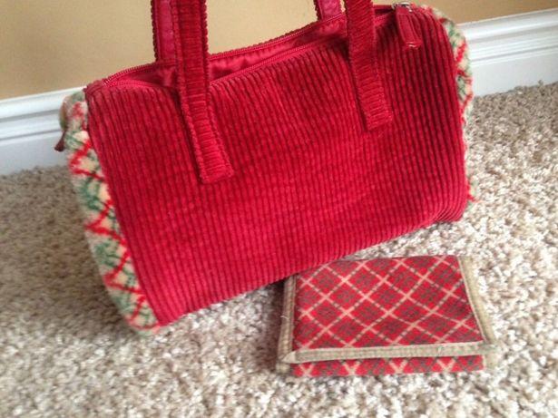 NICI torebka i portfel czerwona pluszowa me to you diddl