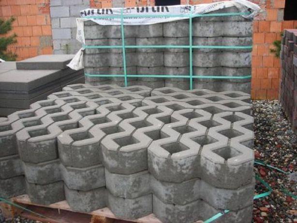 Ażury Płyty skarpowe ażur kostka betonowa brukowa granitowa ziemia