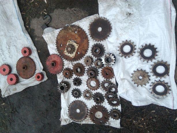 Звёздочки и цепи разных диаметров (16 мм , 19 мм и 25 мм.)