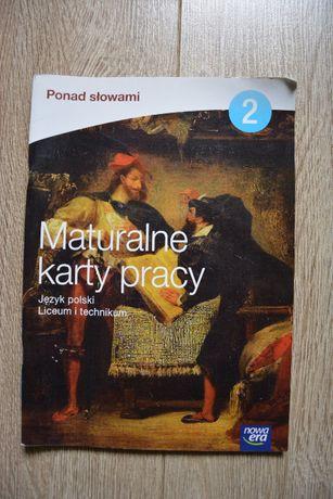 Maturalne karty pracy język polski Nowa era Ponad słowami