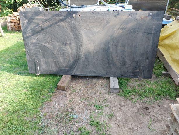 Drzwi metalowe garażowe 260x125 masywne ciężkie