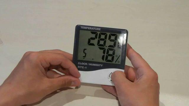 Домашняя метеостанция гигрометр термометр часы будильник HTC-1