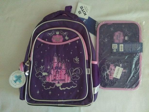 Рюкзак, портфель, ранец школьный Kite, Кайт с пеналом 1-4 класс