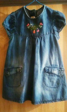 Платье для девочки. Платье джинсовое.