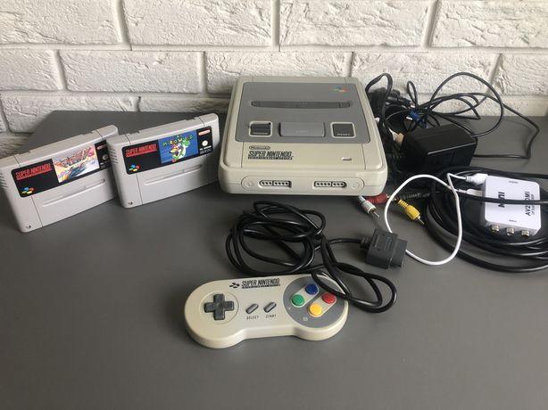 Nintendo snes + 2 gry