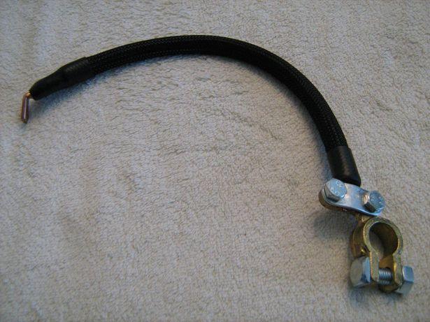Masa akumulatora,kabel z klemą, uniwersalny czarny lub niebieski