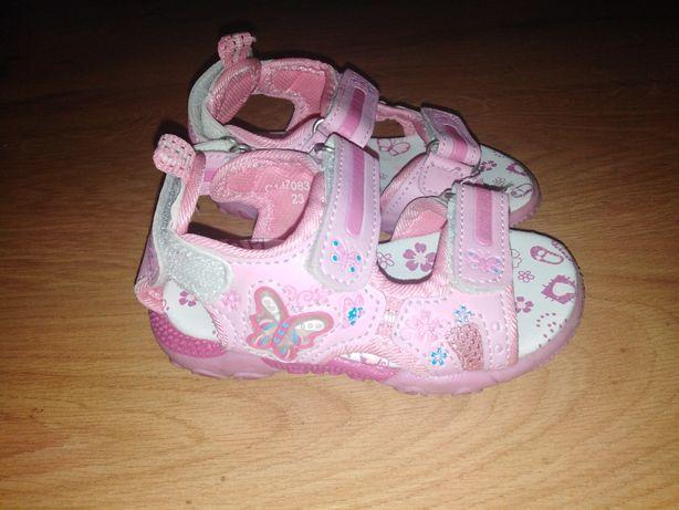 Sandałki dziewczęce różowe dla dziewczynki