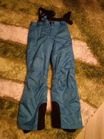 Niebieskie spodnie narciarskie dziecięce rozmiar 134-140