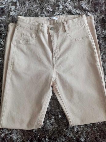 Spodnie beżowe sinsay