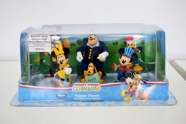 Игровой набор фигурок клуб Микки Мауса Поезд, игрушки дисней, оригинал