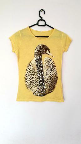 Koszulka damska T-shirt z cekinami