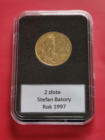 1997r. Moneta 2zł GN Stefan Batory, w slabie.
