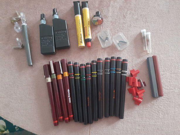 Conjunto de canetas Rötring com acessórios