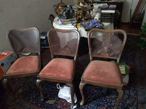 Komplet krzeseł do renowacji + stół