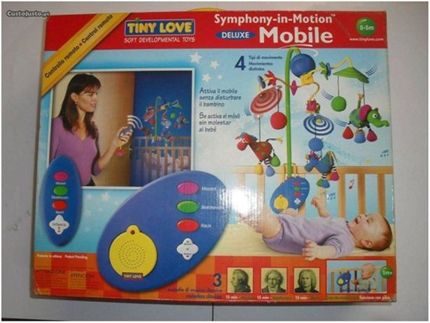 Excelente estado Brinquedo musical Bebe TINY LOVE deluxo para berço