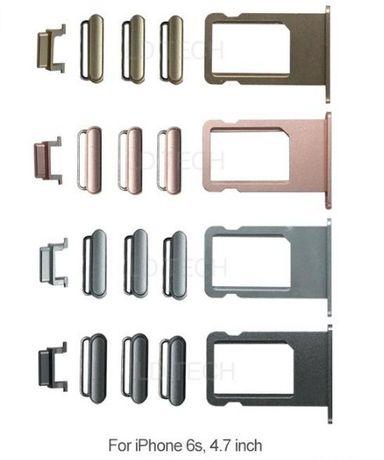 Conjunto de botões + gaveta SIM de alta qualidade para iphone 6S