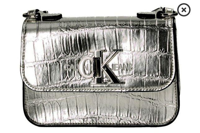 Calvin Klein torebka silver K60K606454