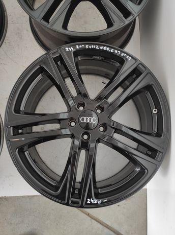 244 Felgi aluminiowe AUDI R 20 5x112 otwór 66,6 Ładne Czarne