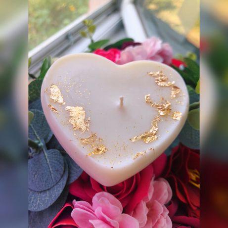 Соевая свеча-сердце
