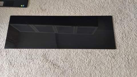 Panel górny Besta Ikea czarne szkło blat