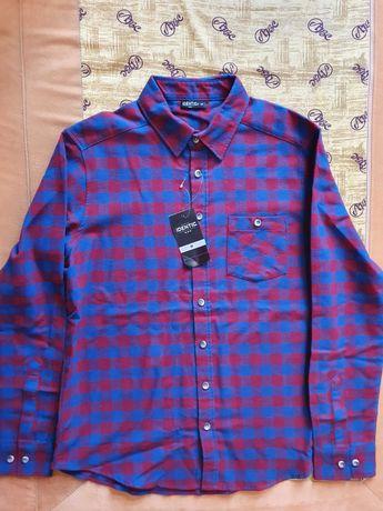 Котоновая рубашка байка Германия м 48 размер в упаковке новая