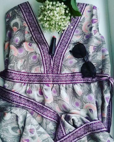 Женское платье H&M 48-50р шёлковое