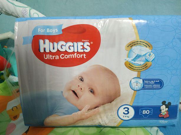 ПАМПЕРСЫ Huggies ultra comfort (размер - 3)