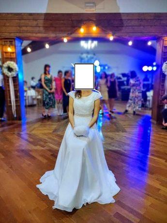 suknia ślubna rozm. 38/szyta na miarę; +WELON i SZAL