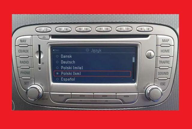 Polskie menu nawigacja radio Ford Focus, C-Max, Mondeo, Kuga itd.