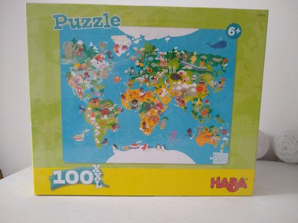Haba - puzzle mapa świata - nowe w folii