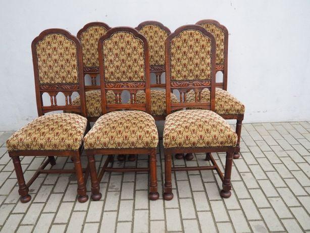 Antyczny komplet 6 krzeseł secesyjnych 684