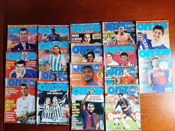 Lote de 17 revistas Onze Mondial (2€ cada)
