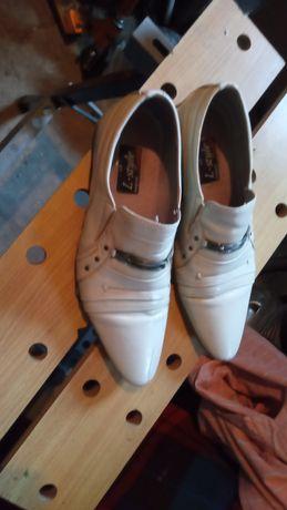 Чоловічі туфлі шкіряні , бежеві, розмір 42