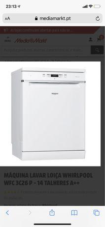 Máquina Lavar Louça Whirlpool 6 Sense