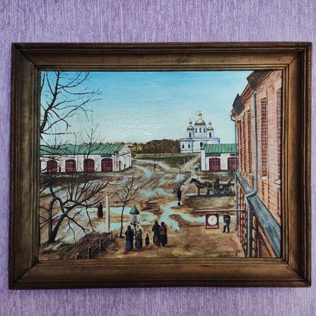 """Картина """"Вид на гостинний двір"""" (Старі Ромни) XIX v."""