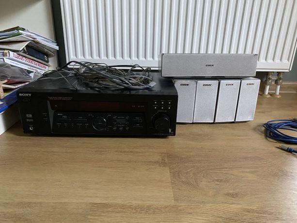 Zestaw kina domowego Sony STR-DE485E + głośniki 5.1 + pilot