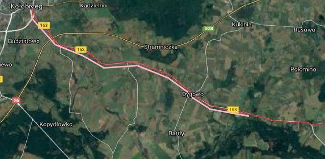 Kołobrzeg ok. 7 km działka budowlana MN 1.028m2  KW (pełna własność ).