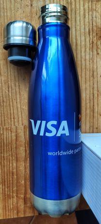 Butelka termiczna VISA termos niebieski