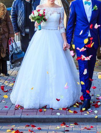 Свадебное платье, цвет - айвори, размер - S