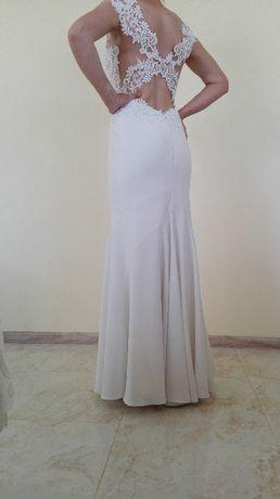 Suknia ślubna śmietankowa biel r s/m